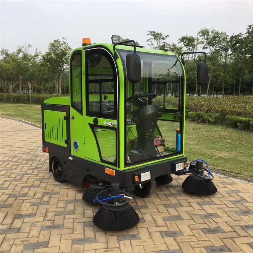青海噴水吸塵電動環保清掃車批發租售價格 五刷全封閉式清掃車JC1900
