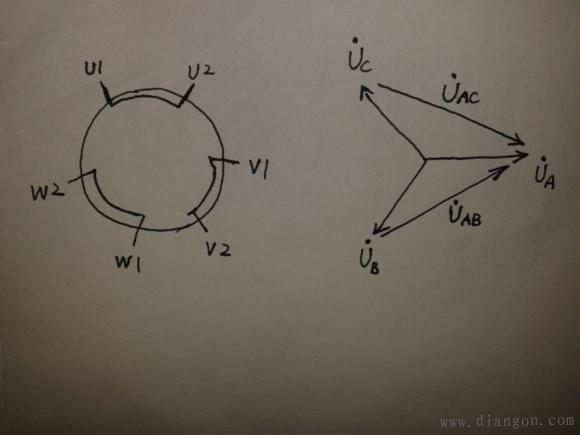 电机星角启动电路图_星三角启动原理图_星角启动实物