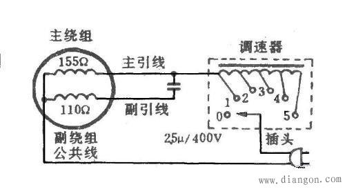 吊扇调速器接线图 吊扇调速器电路图