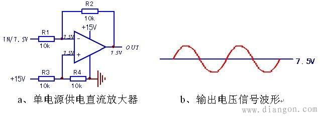 图电路,和abb前流检测前置电路类似,运放芯片采用单电源供电(同lm324
