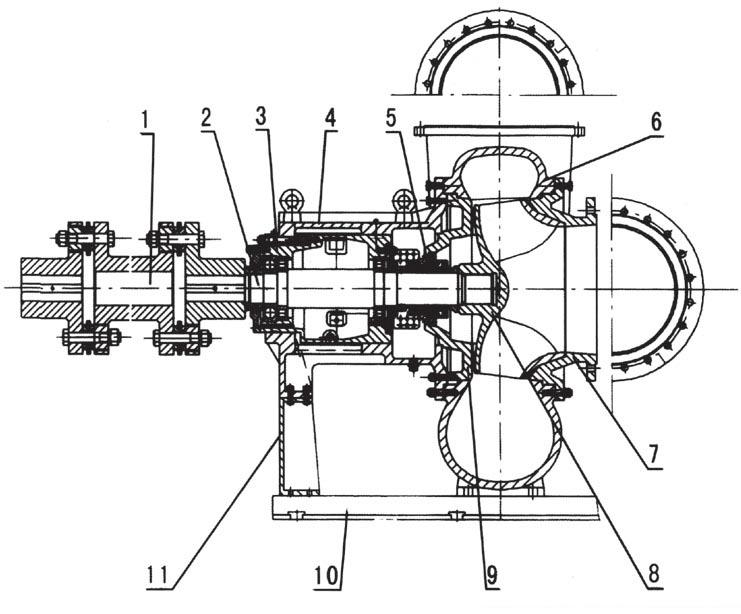 系列大型脱硫循环泵结构图