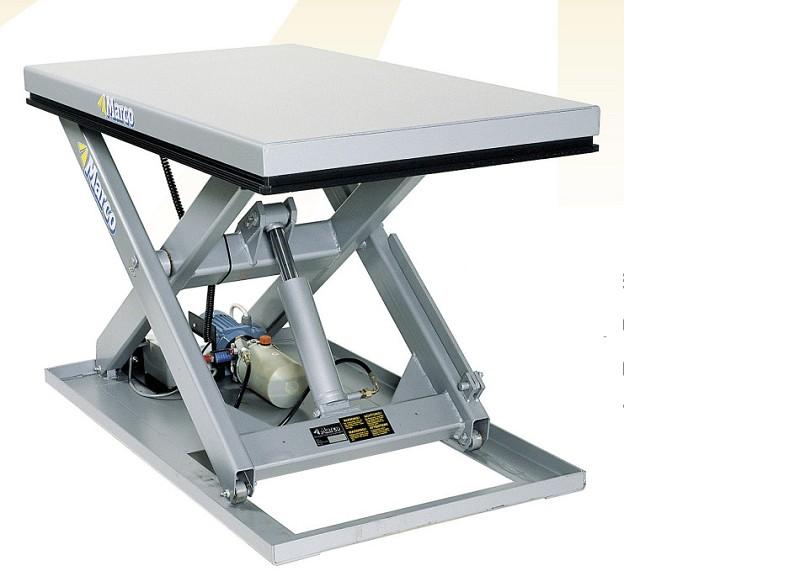 液压升降平台下降:液缸的活塞向下运动液压油经防爆图片