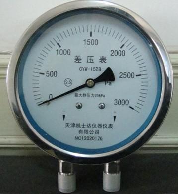 不锈钢差压表CYW-152B
