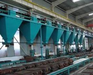 青岛清砂机,抛丸机厂家出售树脂砂再生线铸造设备