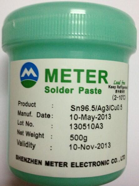 无铅绿色环保米特锡膏Sn96.5/Ag3/Cu0.5