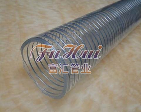 透明PU管, 食品级透明钢丝管,聚氨酯耐磨透明钢丝管