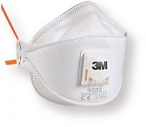 3M9332防尘防毒口罩 防PM2.5 儿童防雾霾口罩