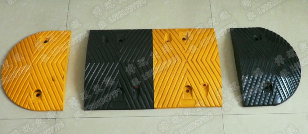 耐压橡胶减速带,质量好的减速带,优质耐压缓冲垫,原生胶减速带