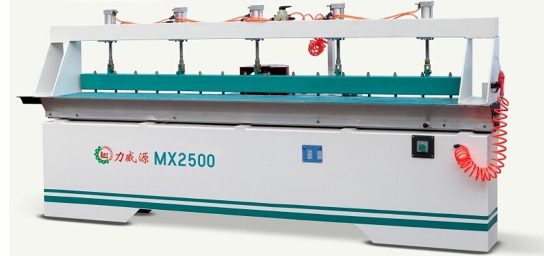 力威源手动铝台面多功能雌雄缝拼板机MX2500A直线铣边机