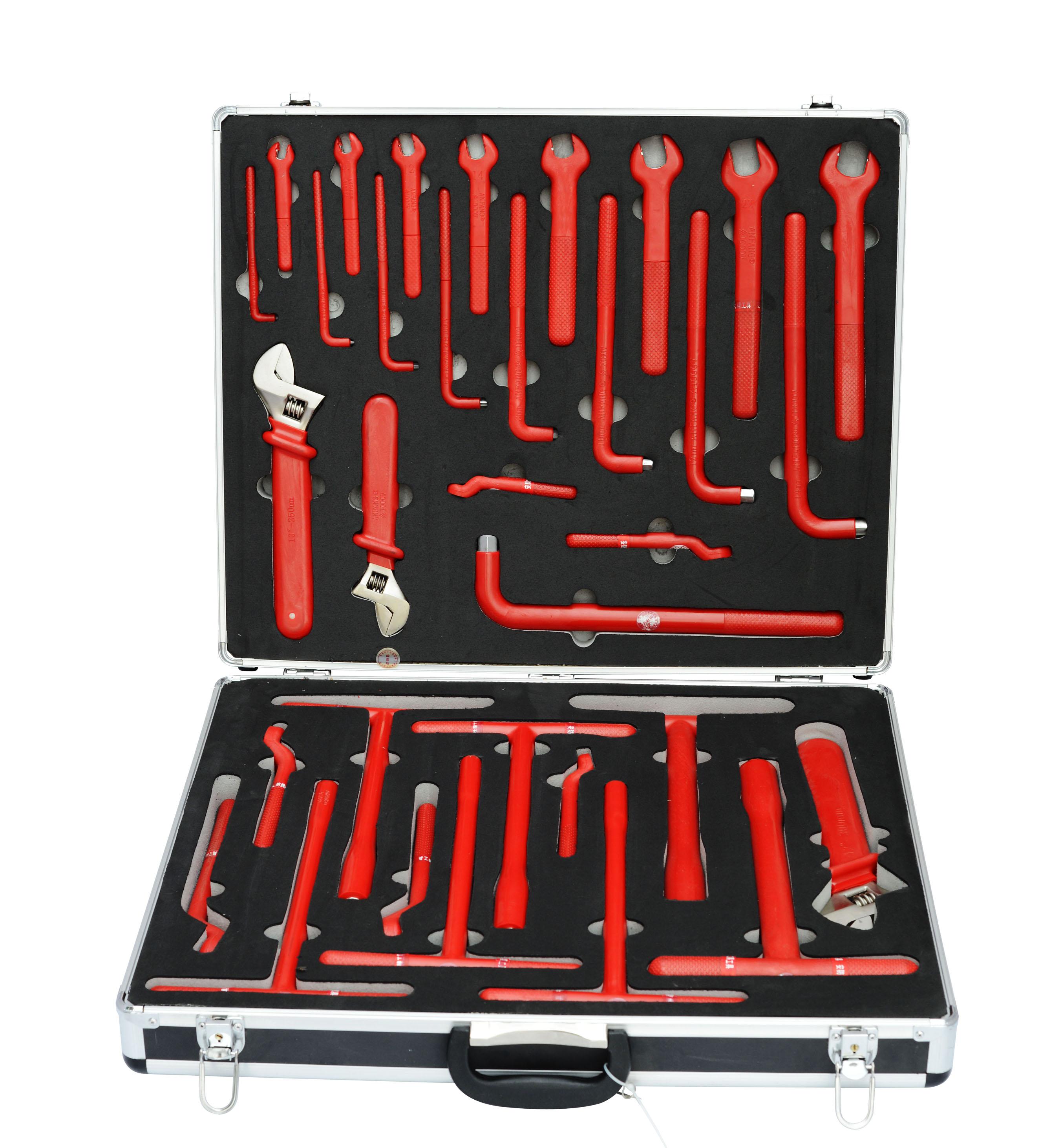 高档绝缘工具套装33件1000V安防著名品牌工具专业生产厂家
