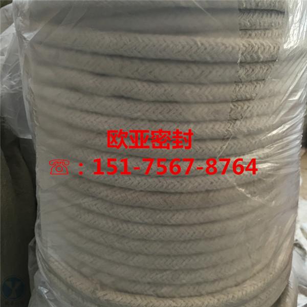 威海耐高温陶瓷纤维盘根,48*48陶瓷纤维绳