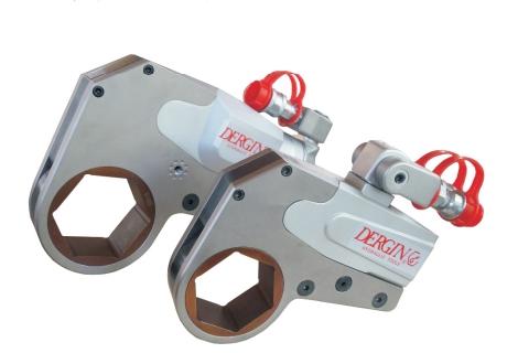WHCD中空超薄液压扳手,风电专用液压扳手,德劲厂家直销