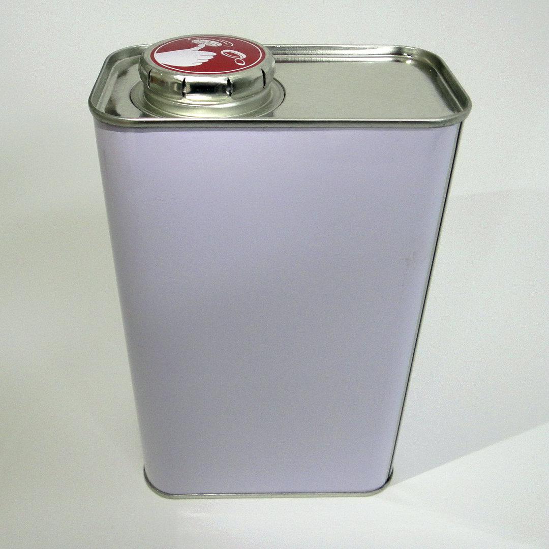 1L涂白方罐溶剂固化剂罐1kg石化油样罐上海旭科铁罐定制