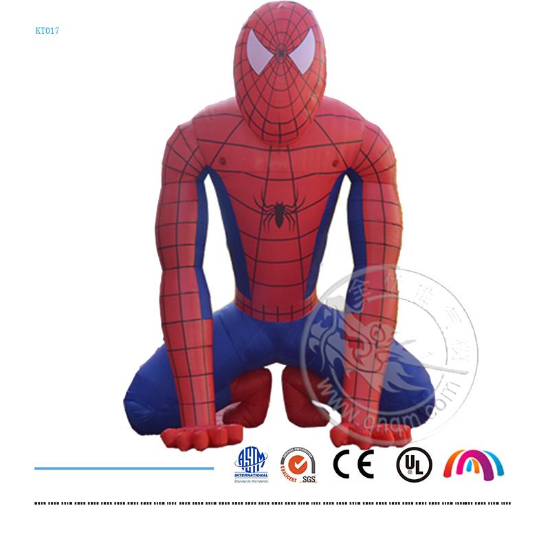 现货供应蜘蛛侠充气模型卡通人物充气广告气模pvc闭气产品定制