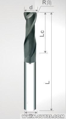 供应2mm-16mm两刃圆鼻铣刀