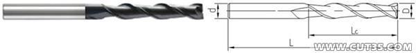 供应加工HRC65加长刃钨钢铣刀