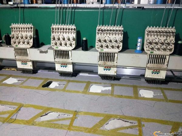 中山出售9成新绣花机二手服装绣花机