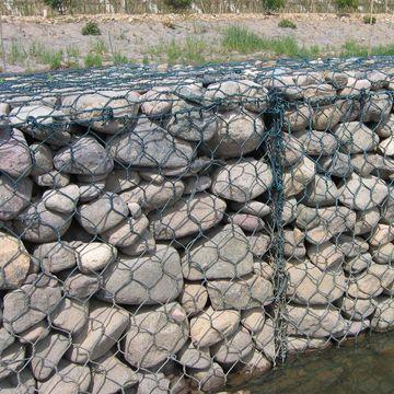 亚安生态石笼网,绿格网,蜂巢挡墙网