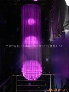 光纤造型吊灯(图)尺寸大小及造型可选