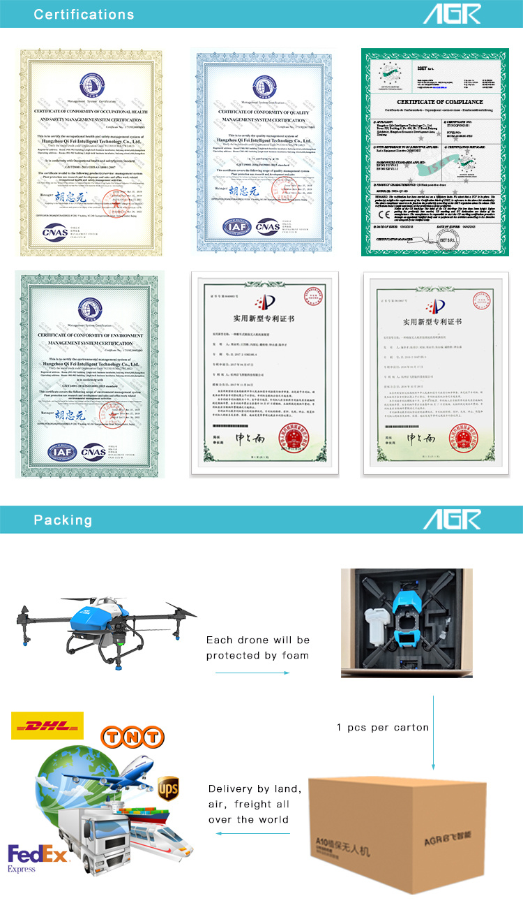 Compact Size Mini High Quality Spraying Drone Uav for Agriculture
