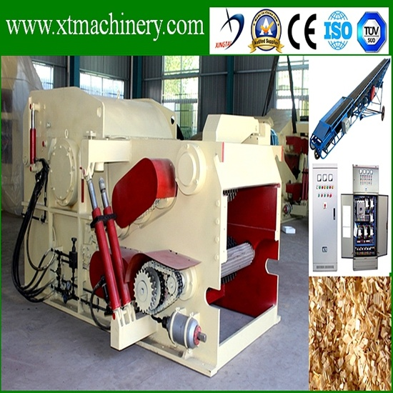 Two Blades, 6m Feeding Conveyor Drum Wood Log Tree Chipper for Biomass pictures & photos