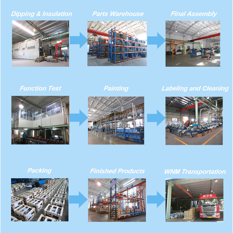 Yej2 IEC High Efficiency Squirrel Cage Rotor Speed Control Three Phase AC Electric Electromagnetic Brake Motor IP55 F 0.18~220kw for Conveyors Yej280m1-2 0.75kw