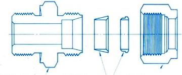钢制单卡套式管接头
