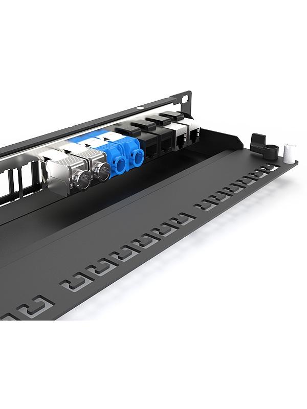 英曼1U24口-屏蔽网络空配架,网络机房工程专用屏蔽款 Blank patch panel