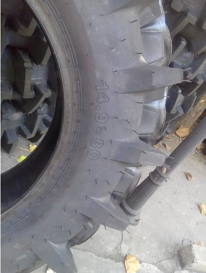 防陷水田高花纹轮胎14.9-30人字喷药机轮胎