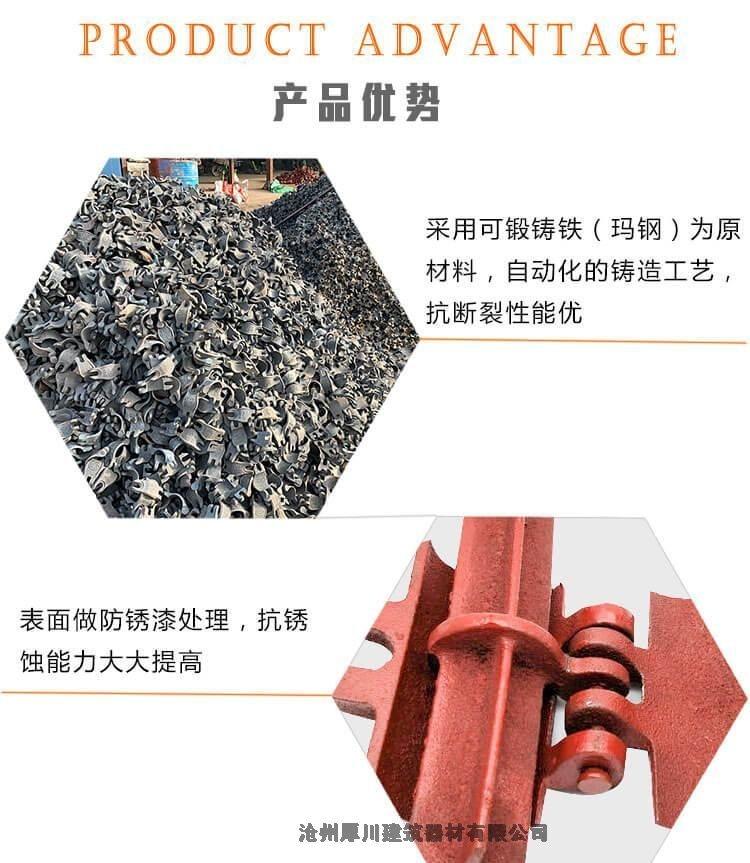 河北2斤国标扣件铸造厂家