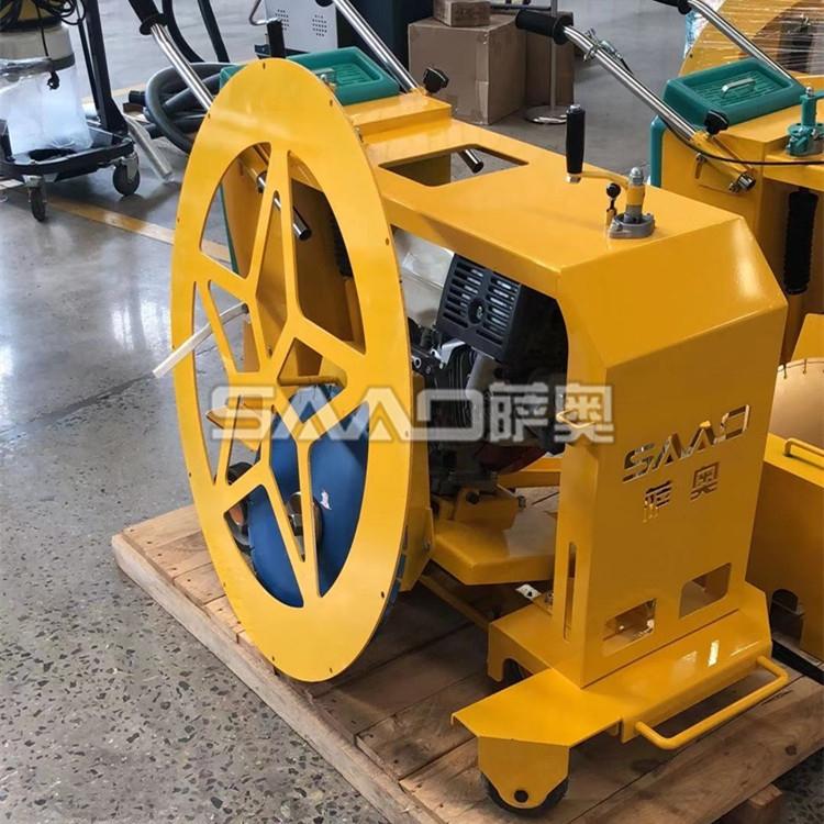 广东深圳手推式井盖切割机 路面井盖破损修复马路切圆设备