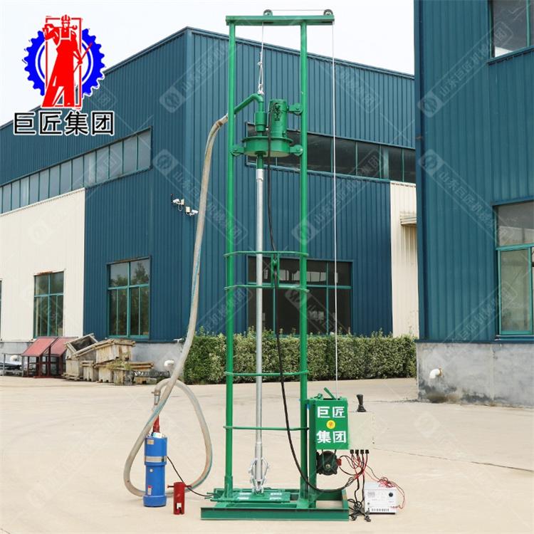 华夏巨匠SJD-2C型小型全自动打井机 120米家用吃水井钻机 电动款挖井机