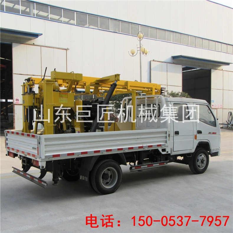 巨匠集团轻卡车载液压钻机移场方便高大上的地质勘探钻机