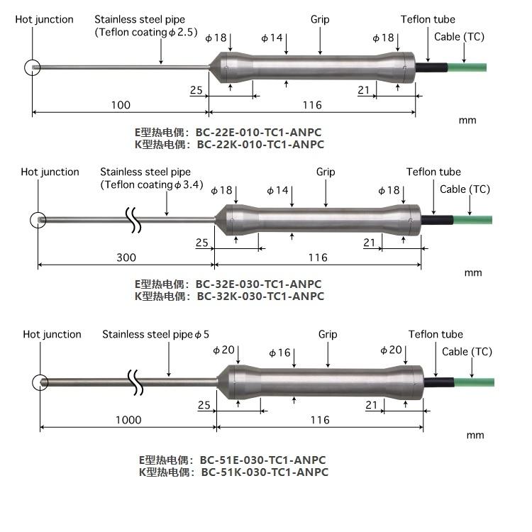 日本安立温度传感器BC-91K-010-TS1-ANPC