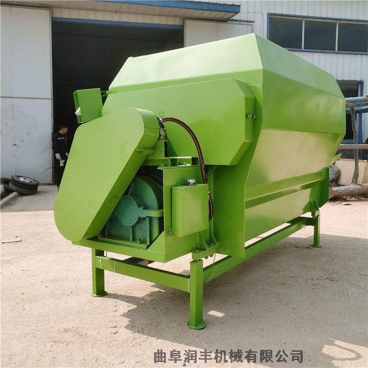 干湿两用搅拌机 牵引式TMR搅拌机 5立方草料混合机