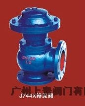 J744X液压气动角式快开排泥阀,广州排泥阀,广州气动排泥阀
