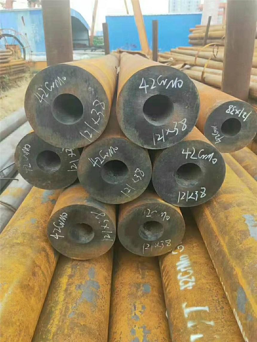 山东42CrMo中厚壁无缝钢管尺寸任意切割现货供应