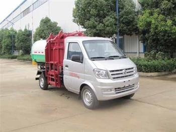 Dongfeng Xiaokang 3 cubic car detachable garbage truck       Hook arm garbage collection truck