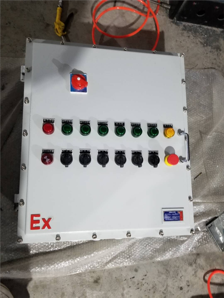 Q235钢板焊接防爆控制箱 防爆按钮 信号灯显示控制箱 BXK厂家生产浙创防爆电气