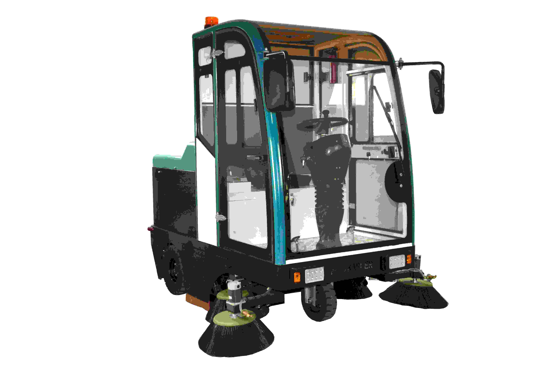 大型电瓶全封闭驾驶式扫地车-室外工厂直销物业垃圾扫地机清扫车